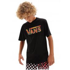 Vans CLASSIC LOGO FILL BLACK/FLAME CAMO dětské tričko s krátkým rukávem - 3