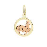 Zlato Zlatý kulatý přívěsek znamení 3220032 Znamení zvěrokruhu: Kozoroh