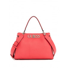 GUESS kabelka Uptown Chic Turnlock Satchel coral vel.