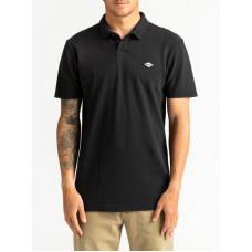 Billabong SKOOLED POLO PIQUE black pánské tričko s krátkým rukávem - M