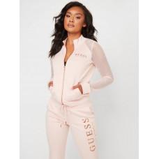 GUESS mikina Jade Mesh Zip-up Jacket pink vel. S