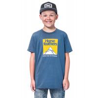 Horsefeathers LEX MOONLIGHT BLUE dětské tričko s krátkým rukávem - XL