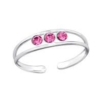OLIVIE Stříbrný prsten na nohu 2735