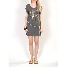 Element MARLE CHARCOAL HEATHE společenské šaty krátké - M