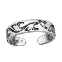 OLIVIE Stříbrný prsten NA NOHU 4008