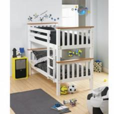 Dětská dvoupatrová postel Rowan bílá - TempoKondela