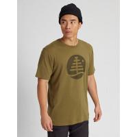 Burton FAMILY TREE MARTINI OLIVE pánské tričko s krátkým rukávem - M