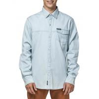 Horsefeathers RODNEY LIGHT BLUE pánská košile dlouhý rukáv - M