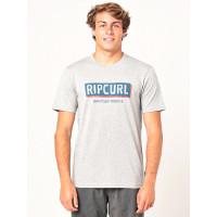 Rip Curl BOXED GREY MARLE pánské tričko s krátkým rukávem - XL