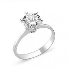 OLIVIE Stříbrný prstense zirkonem 1363 Velikost prstenů: 9 (EU: 59 - 61)