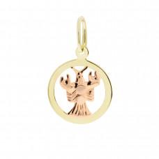 Zlato Zlatý přívěsek znamení zvěrokruhu 3220032 Znamení zvěrokruhu: Rak
