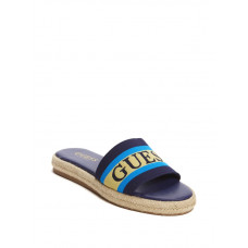 GUESS pantofle Carlita Espadrille Slide Sandals modré vel. 39