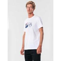 Rip Curl KLAXON white pánské tričko s krátkým rukávem - M