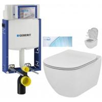 GEBERIT - SET Kombifix KOMBIFIX ECO pro závěsné WC, nádržka UP 320 bez Ovládací desky + WC TESI se sedátkem SoftClose, AquaBlade (110.302.00.5 TE1)