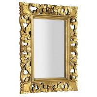 SAPHO - SAMBLUNG zrcadlo v rámu, 60x80cm, zlatá (IN121)