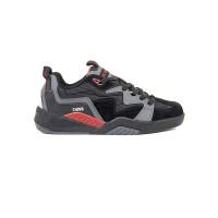 Dvs DEVIOUS charcoal/black/red/nubuck pánské letní boty - 44,5EUR