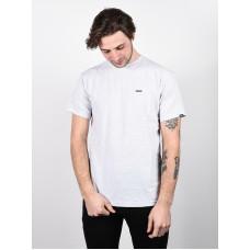 Vans LEFT CHEST LOGO ASH HEATHER/HELIOTROPE pánské tričko s krátkým rukávem - XL