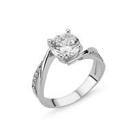 OLIVIE Stříbrný zásnubní prsten CZ 1732 Velikost prstenů: 8 (EU: 57 - 58)