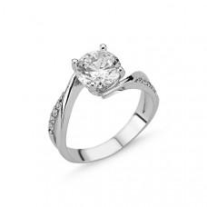 OLIVIE Stříbrný zásnubní prsten CZ 1732 Velikost prstenů: 6 (EU: 51 - 53)
