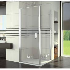 SanSwiss SL1 0750 50 07 Sprchové dveře jednokřídlé 75 cm, aluchrom/sklo