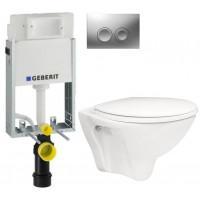 GEBERIT - SET KOMBIFIXBasic včetně ovládacího tlačítka DELTA 21 MAT pro závěsné WC CERSANIT ARES + SEDÁTKO (110.100.00.1 21MA AR1)