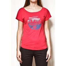 Vehicle COKE RED dámské tričko s krátkým rukávem - M