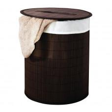 AQUALINE - BEACH koš na prádlo, bambus, tmavě hnědá (21005038)