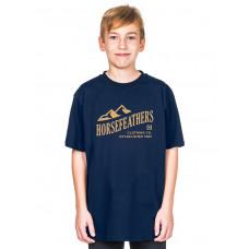 Horsefeathers RIPPLE KIDS indigo dětské tričko s krátkým rukávem - XL