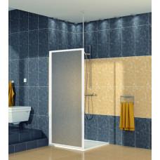 SanSwiss ECOF 0700 04 22 Boční stěna sprchová 70 cm, bílá/durlux