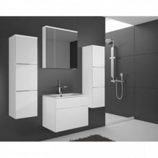 Koupelnová sestava Porto s LED osvětlením bílý lesk - FALCO