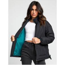RVCA MAMMOTH PUFFA black zimní bunda dámská - S