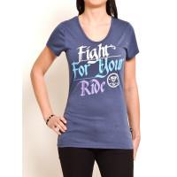Vehicle BUGSY blue dámské tričko s krátkým rukávem - S