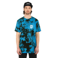 Horsefeathers MINI LOGO BLUE TIE DYE pánské tričko s krátkým rukávem - S