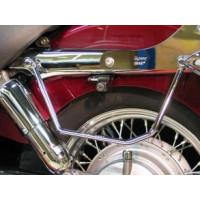 Podpěry brašen Highway Hawk pro motocykly HONDA VT750 C4/C5/C6 Shadow (2ks) - Chrom - Highway Hawk HWH 661-035