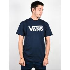 Vans CLASSIC navy/white pánské tričko s krátkým rukávem - XS