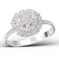OLIVIE Nádherný stříbrný prsten 0677 Velikost prstenů: 6 (EU: 51 - 53)