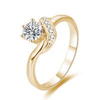 OLIVIE Stříbrný zásnubní prsten GOLD 4332 Velikost prstenů: 9 (EU: 59 - 61)