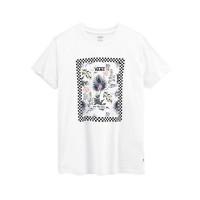 Vans BORDER FLORAL white dámské tričko s krátkým rukávem - M