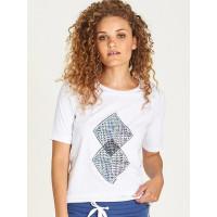 Element ABSTRACT white dámské tričko s krátkým rukávem - L