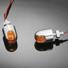 Svítící šroub Highway Hawk POWERCAP s LED, oranžový (2ks) - Chrom - Highway Hawk HWH 68-485