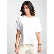 RVCA GOOD VS. EVIL Vintage White dámské tričko s krátkým rukávem - S