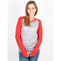 MONS ROYALE ROCKER RAGLAN grey marl/raspberry dámské thermo prádlo - S