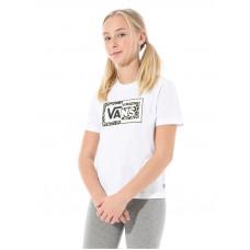 Vans SPLIT LEOPARD white dětské tričko s krátkým rukávem - M