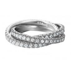 Prsten Esprit ES-Brilliance Triple White ESRG91885B Velikost prstenu: 54