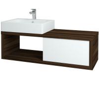 Dřevojas - Koupelnová skříňka STORM 120 KUBE (L) - D06 Ořech (72530)