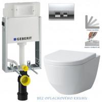 GEBERIT - SET KOMBIFIXBasic včetně ovládacího tlačítka DELTA 50 CR pro závěsné WC LAUFEN PRO RIMLESS + SEDÁTKO (110.100.00.1 50CR LP1)