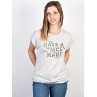 Rip Curl HAVE A NICE WAVE SHARKSKIN dámské tričko s krátkým rukávem - XS