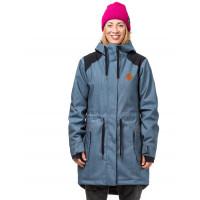 Horsefeathers POPPY light denim zimní bunda dámská - XS