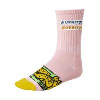 RVCA HOT FUDGE CREW PINK moderní barevné pánské ponožky
