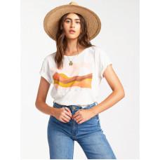 Billabong ENDLESS HORIZON SALT CRYSTAL dámské tričko s krátkým rukávem - L